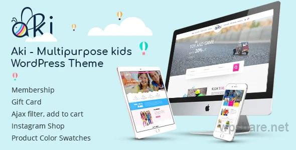 Aki – Multipurpose Kids WordPress Theme v1.3.2