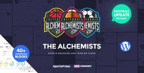 Alchemists – Sports, eSports & Gaming Club and News WordPress Theme v4.4.2