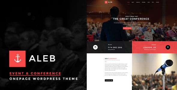Event WordPress Theme for Conference Marketing – Aleb v1.3.6