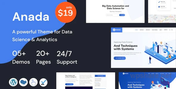Anada 1.3.1 – Data Science & Analytics Saas WordPress Theme
