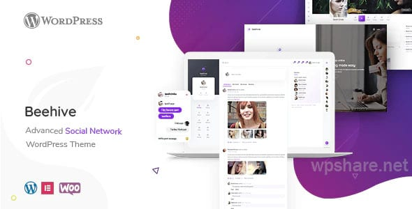 Beehive – Social Network WordPress Theme v1.3.0