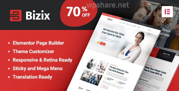 Bizix 2.0.2 – Corporate and Business WordPress Theme