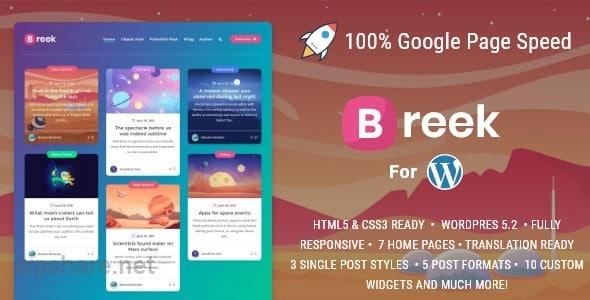 Breek v3.6.0 – Minimal Masonry Theme for WordPress