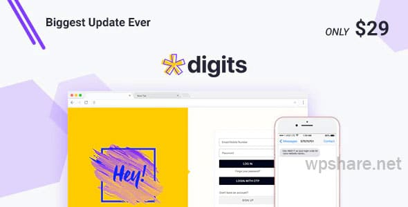 Digits v7.4.2 + Addons – WordPress Mobile Number Signup and Login