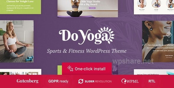 Do Yoga – Fitness Studio & Pilates Club WordPress Theme v1.1.2