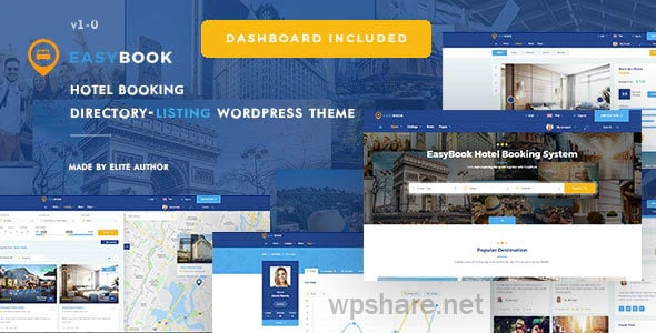 EasyBook – Hotel & Tour Booking WordPress Theme v1.3.4