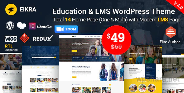 Eikra 4.2.2 – Education WordPress Theme