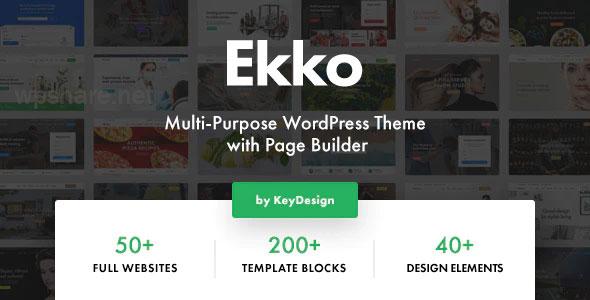 Ekko 2.7 – Multi-Purpose WordPress Theme with Page Builder