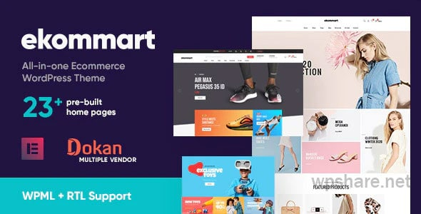 ekommart 3.5.3 – All-in-one eCommerce WordPress Theme