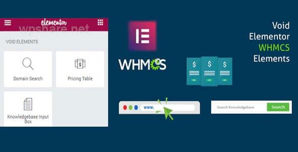 Elementor WHMCS Elements Pro For Elementor Page Builder v3.0
