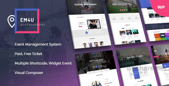 EM4U 1.4.3 – Events WordPress Theme for Booking Tickets