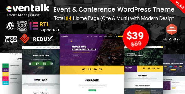 EvnTalk v1.6.4 – Event Conference WordPress Theme