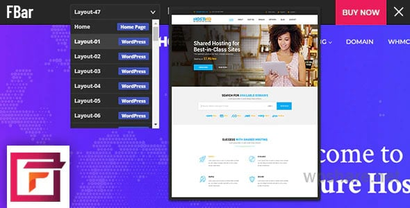 FBar – Responsive WordPress Demo Switch Bar Plugin – v3.0