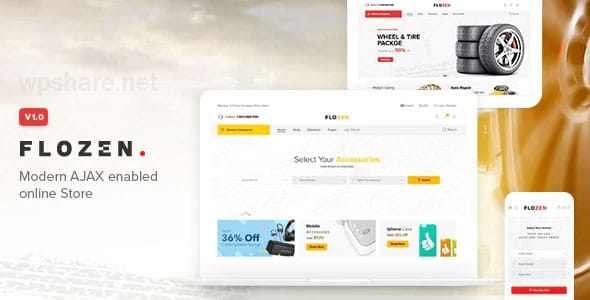 Flozen – WooCommerce AJAX WordPress RTL Theme v1.1.9