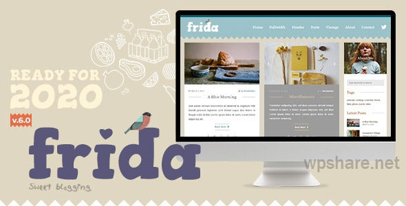 Frida v7.0 – A Sweet & Classic Blog Theme