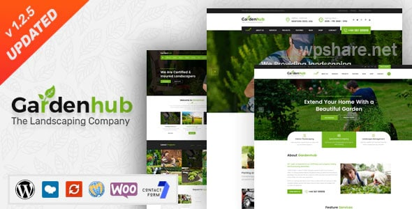 Garden HUB – Lawn & Landscaping WordPress Theme v1.2.5