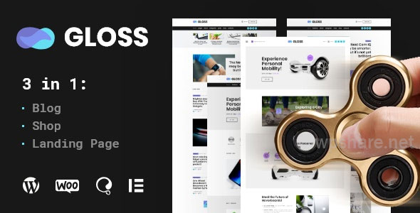 Gloss | Viral News Magazine WordPress Blog Theme + Shop v1.0.2