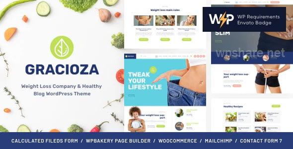 Gracioza | Weight Loss Company & Healthy Blog WordPress Theme v1.0.5