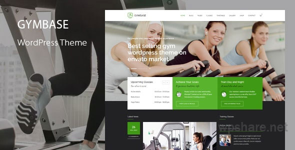 GymBase – Gym Fitness WordPress Theme v14.1