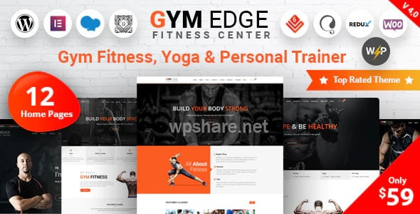 Gym Edge – Fitness WordPress Theme v4.2.1