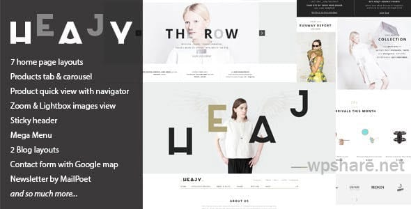 Heajy v1.3.5 – Handmade Fashion WordPress Theme