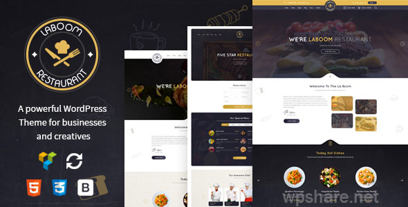 La Boom – Food & Restaurant Bistro WordPress Theme v2.5