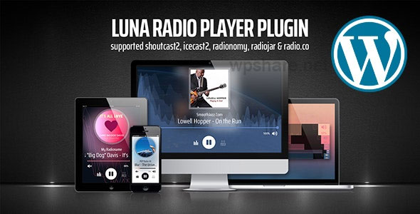 Luna Web Radio Player WordPress Plugin v5.21.01.28