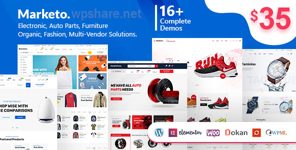 Marketo – eCommerce & Multivendor Marketplace Woocommerce WordPress Theme 3.1