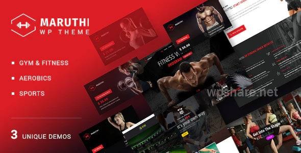 Maruthi – Fitness Gym Trainer WordPress Theme v2.4