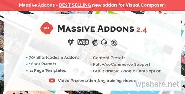 Massive Addons for WPBakery Page Builder v2.4.8