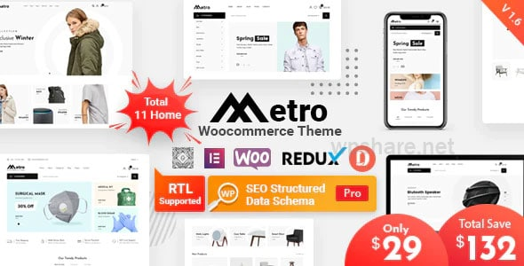 Metro – Minimal WooCommerce WordPress Theme v1.6.0