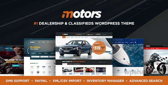 Motors 4.9.9 – Car Dealer, Rental & Classifieds WordPress theme