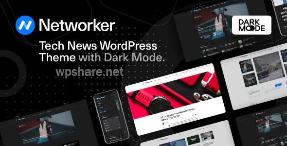 Networker – Tech News WordPress Theme with Dark Mode v1.0.3