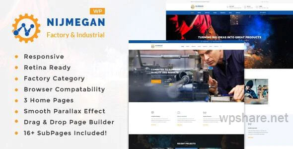 Nijmegan v1.6 – Factory and Industrial Business WordPress Theme