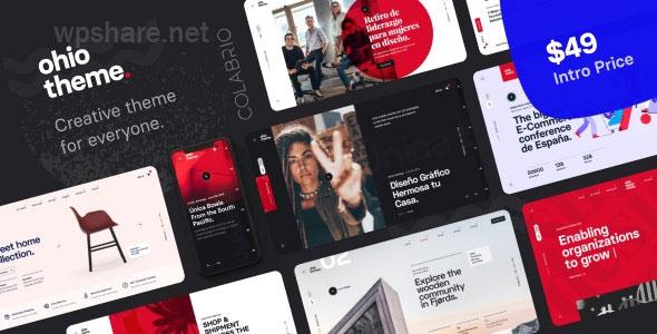 Ohio – Creative Portfolio & Agency WordPress Theme v2.3.2