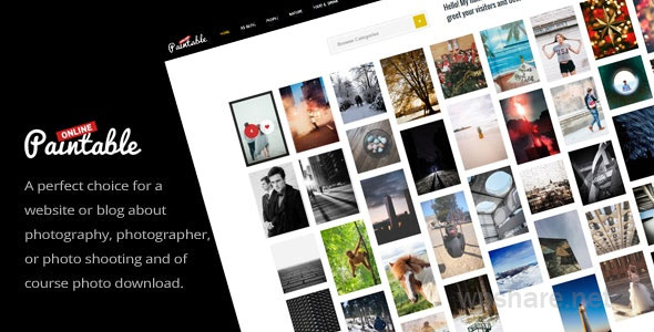 Paintable – Photography and Blog / Photos Download WordPress Theme v2.5