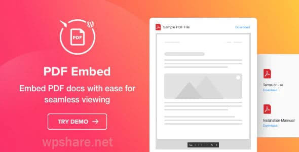 PDF Embed – WordPress PDF Viewer plugin v1.1.1