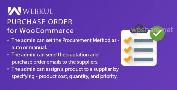 Purchase Order Plugin for WooCommerce v1.0.1