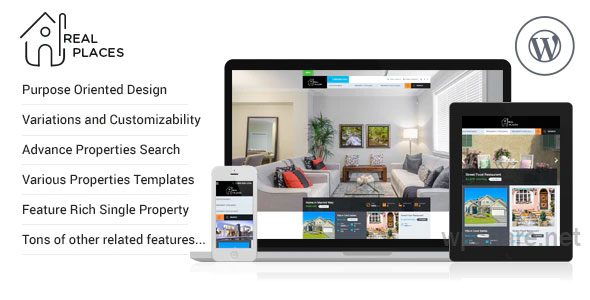 RealPlaces v1.8.6 – Estate Sale and Rental WordPress Theme