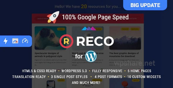 Reco – Minimal Theme for Freebies v4.6.0