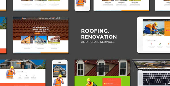 Roofing 2.8 – Renovation & Repair Service WordPress Theme