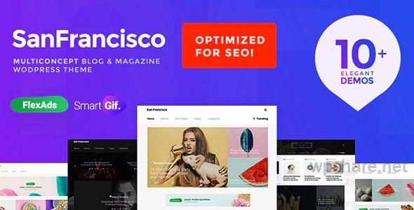 SanFrancisco v1.5 – MultiConcept Blog & Magazine WordPress Theme