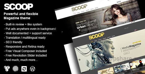 Scoop v5.2.0 – A Magazine Theme For WordPress