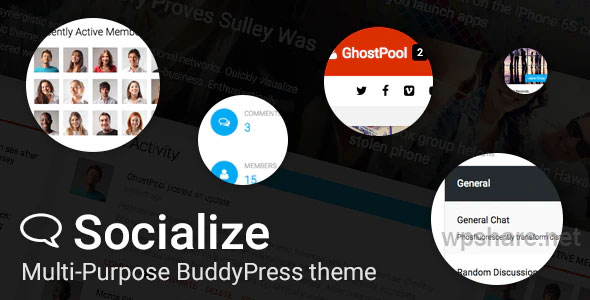 Socialize v2.40.2 – Multi-Purpose BuddyPress Theme
