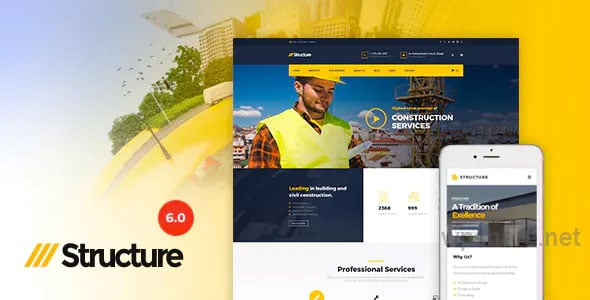 Structure 7.0.0 – Construction Industrial Factory WordPress Theme