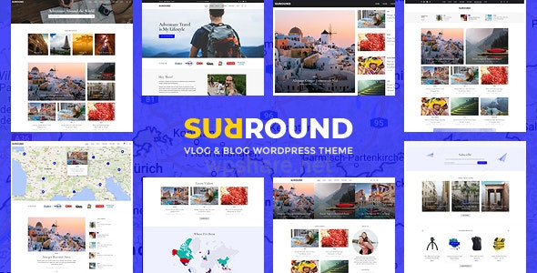 Surround – Vlog & Blog WordPress Theme v1.0.6