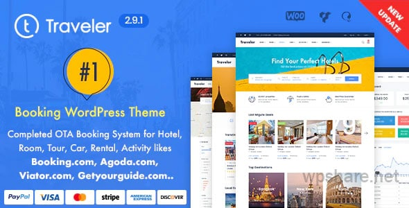 Travel Booking WordPress Theme v2.9.1