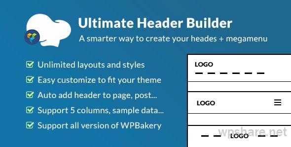 Ultimate Header Builder v1.6.6 – Addon WPBakery Page Builder