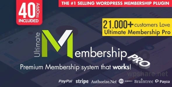 Ultimate Membership Pro 9.6 – WordPress Membership Plugin