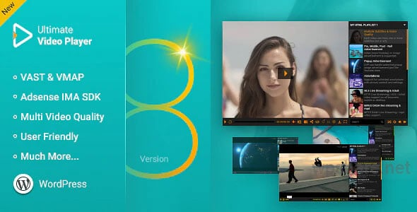 Ultimate Video Player WordPress Plugin v8.4